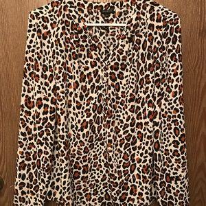 Leopard Print Talbots Blouse